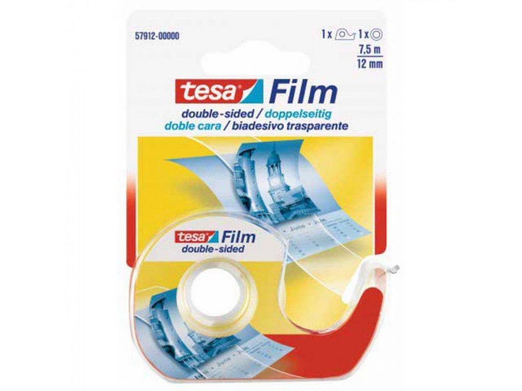 Lepiaca páska TESA 12mx7,5m obojstranná s odvíjačom