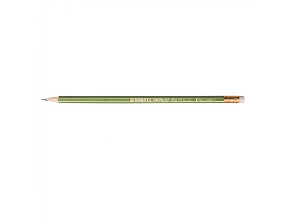 Ceruzka grafitová STABILO GREENgraph s gumou 6004HB