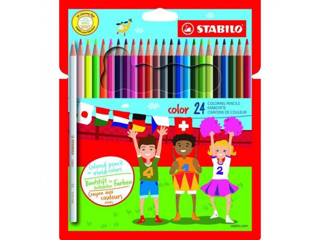 Farbička STABILO color farbičky 24 ks vrátane neon Karton Puzdro 192477 01