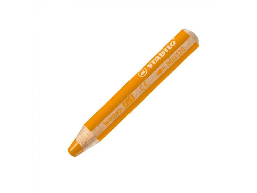 Farbička STABILO woody 3 in 1 oranžová