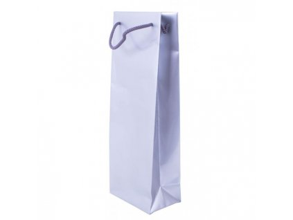 Papierová taška na víno, bavlnené ušká 120x80x350mm strieborná