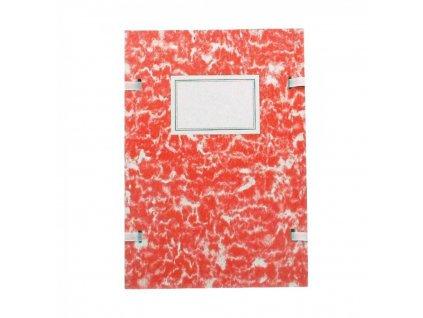 Spisová doska A4 mramor červená