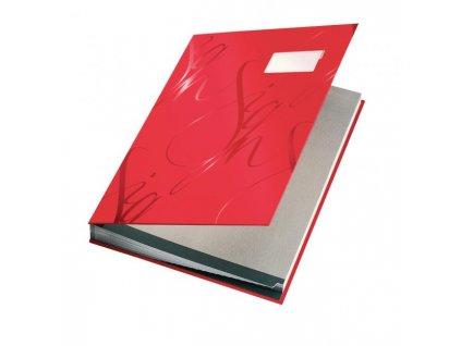 Podpisová kniha designová Leitz červená