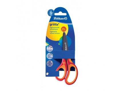 Nožnice Pelikan Griffix pre ľalvákov v blistri červené