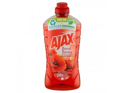 Ajax na podlahy Floral Fiesta 1l Divé kvety (červený)