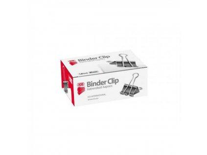 Klipy BINDER čierne 41 mm 12 ks SA10041
