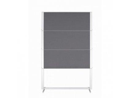 Moderačná tab. plstená skladacia PROFESSIONAL150x120cm sivá