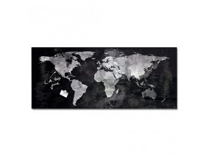 SI000246 Sklenena tabula artverum 130x55cm mapa sveta