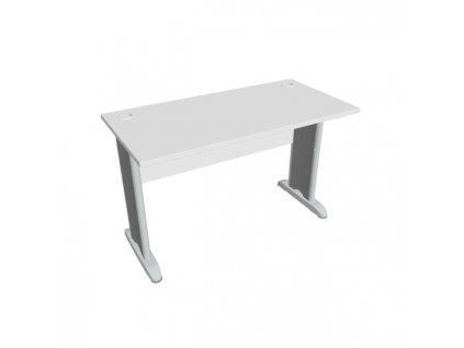 Pracovný stôl Cross, 120x75,5x60 cm, biely/kov