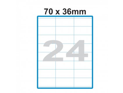 Etikety A4 Print 70x36mm (24) SO070036