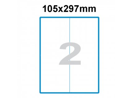 Etikety A4 Print 105x297mm (2)
