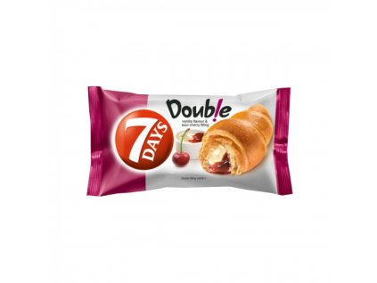 7 DAYS croissant double vanilka jahoda