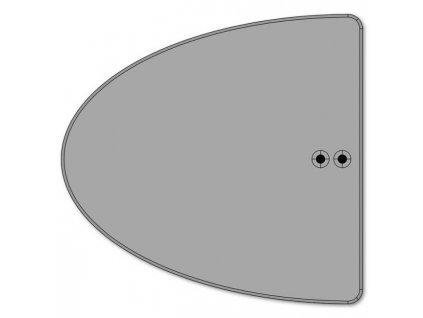 Kolízna pätka Akustik, 20,0x0,6x20,8 cm, 0