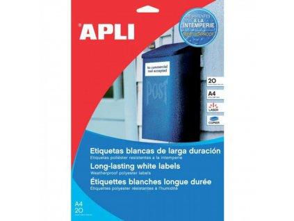 Etikety APLI 210x297mm priehľadné Laser