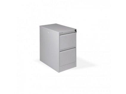 Dvojzásuvková kartotéková skriňa kovová OP, 41,6x71x62 cm, sivá