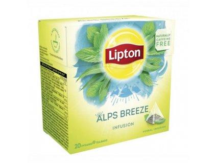 Čaj Lipton bylinný Infusion Herbal Alps Breeze pyramídy 22g