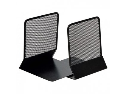 Drôtená zarážka na knihy a zakladače 130x155x165mm čierna