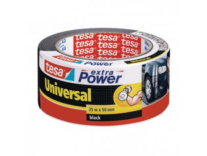 Textilná páska TESA silne lepiaca čierna 50mm x 25m