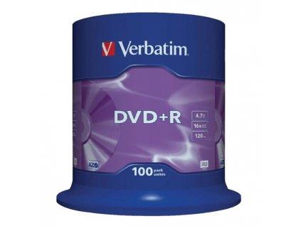 Verbatim DVD+R 16x 4,7GB cake 100 ks