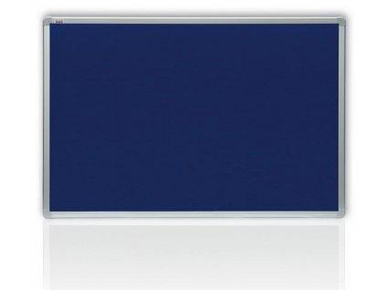 Filcová modrá tabuľa v hliníkovom ráme 150x120 cm