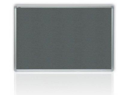 Filcová šedá tabuľa v hliníkovom ráme 150x120 cm
