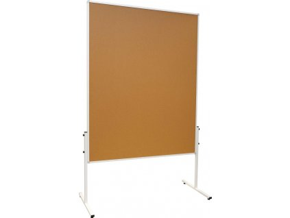 Moderačné obojstranná tabuľa korková 120x150cm na kolieskach