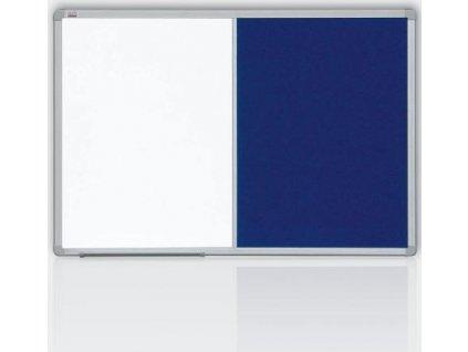 Kombinovaná tabuľa 60x90 filc modrý / magnet., Rám ALU23