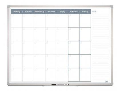 Mesačná plánovacia tabuľa 120x90, ALU23 ENG