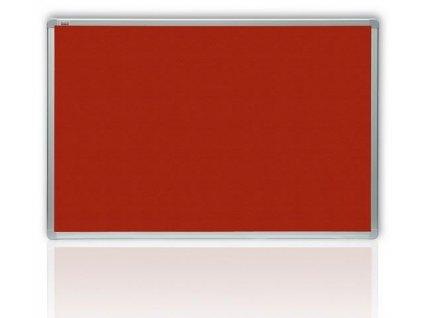 Filcová červená tabuľa v hliníkovom ráme 120x90 cm
