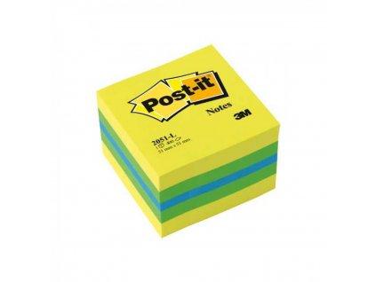 Bloček kocka Post it 51x51 mini mix farieb 2051 L