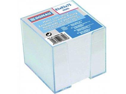 Bločky 83x83x75 nelepená biela kocka v zásobníku DO7490
