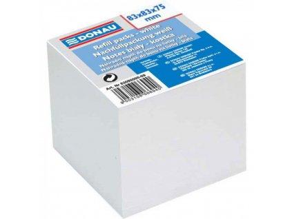 Bločky 83x83x75 nelepená biela náhr.náplň kocka DO8309