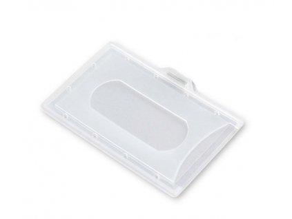 Puzdro 54 x 86 mm na vstupnej karty z tvrdeného plastu 100 ks