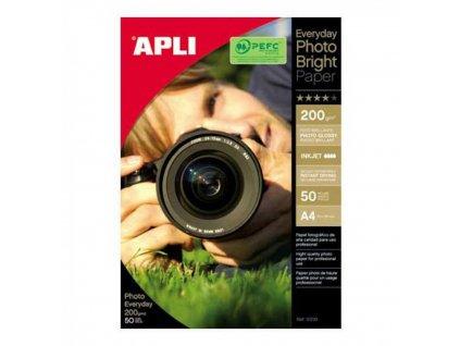Fotopapier A4 APLI EVERYDAY bright 200g 50 list.