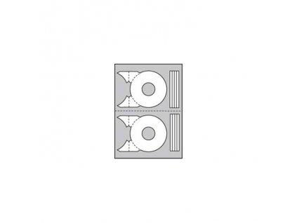 Etikety univerzálne na CD DVD priemer 114mm Agipa 20 hárkov