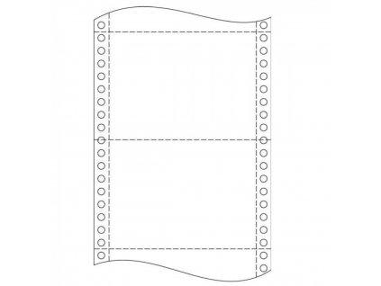 Tabelačný papier 25x6 1+2 750 zl polený