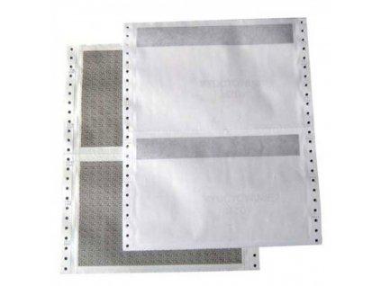 Tabelačný papier 25x6 1+2 Diskr.obálka ŠP (široký pásik)
