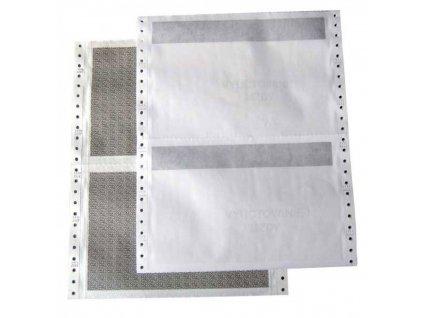 Tabelačný papier 25x6 1+2 Diskr.obálka ÚP (úzky pásik)