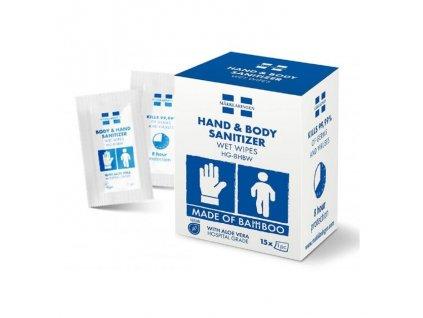 Sanitizer dezinfekčné vlhčené utierky na ruky HG 8HBW (15ks)