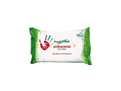 Antibakteriálne vlhčené utierky na ruky Fresh´n Soft 60 ks