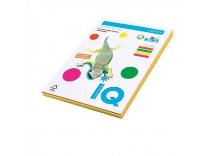 Kopírovací papier A4 80g IQ color 4x50 mix neónové farby