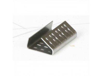 V.spony pre PP pásku 12 13mm oceľ, perfor, prekrýv, 1000 ks kart