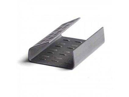 V.spony pre PP pásku 15 16mm oceľ, perfor, prekrýv, 1000 ks kart