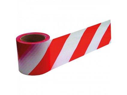 Výstražná páska 100mmx33m červeno biela PVC