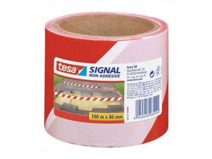 Výstražná páska TESA 100mx80mm nelepiaca červeno biela