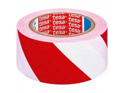 Výstražná páska TESA 50mmx33m PVC červeno biela
