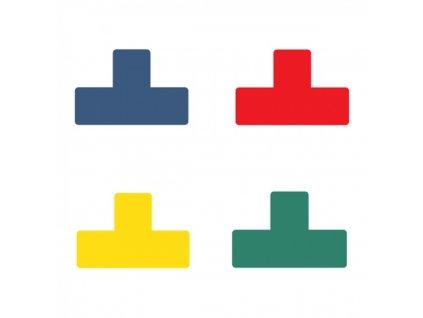 Páska PVC, Tarifold, štítok na podlahu, tvar T, 150x50mm červená10ks