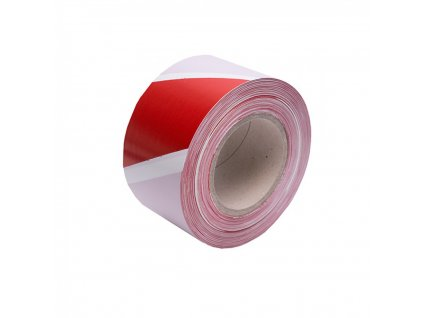 Výstražná fólia 7,5cmx200m bieločervená