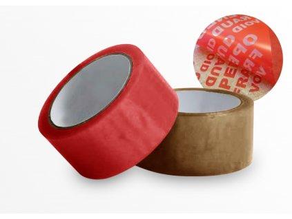 Lepiaca páska 48mmx50m červená bezpečnostná