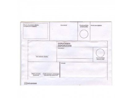 Obálky B6 Doporučene s páskou
